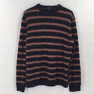 NWT J. Crew Striped Mens Sweater Size Medium